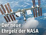"""ISS und Erde vom Spaceshuttle """"Endeavour"""" fotografiert"""