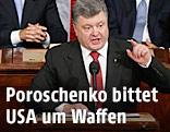 Der Ukrainische Präsident Petro Poroschenko im US-Kongress