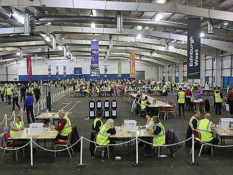 Wahlzentrum in Edinburgh