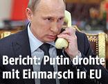 Der russische Staatschef Wladimir Putin am Telefon