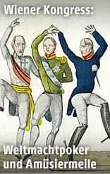 Ball der Fürsten, französische Karikatur, 1815