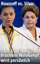 Marina Silva und Dilma Rousseff