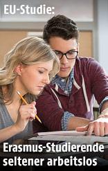 Zwei Studenten lernen gemeinsam