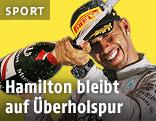 Lewis Hamilton (Mercedes) jubelt