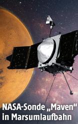 """Computergeneriertes Bild der NASA-Sonde """"Maven"""""""