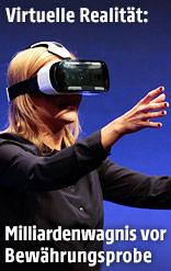 Frau mit Oculus-Headset