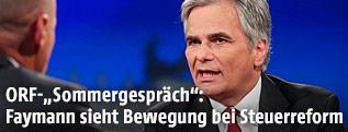 Bundeskanzler Werner Faymann im ORF-Sommergespräch