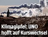 Rauch aus Fabriksschloten