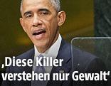 Barack Obama bei einer Rede vor der UNO-Vollversammlung
