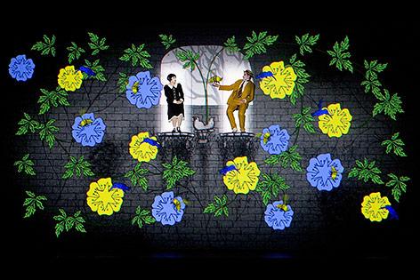 """Bühnenbild der """"Zauberflöte"""""""