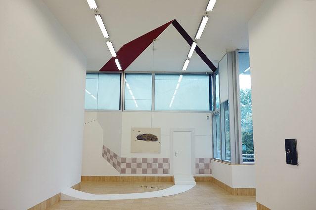 Alfredo Barsuglia: Installation, für die Ausstellung angefertigt (2014)