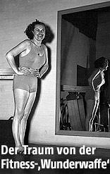 Frau mit Fitnessgerät