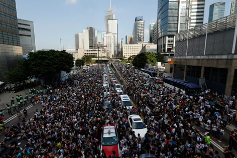 Demonstration in Hongkong