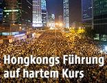 Menschenmassen bei einer Demonstration in Hongkong