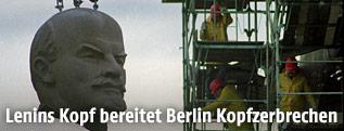Kopf der Lenin-Statue in Berlin