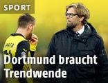 Dortmunds Julian Schieber und Trainer Jürgen Klopp