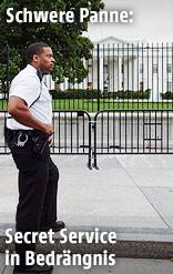 Sicherheitsmann vor Weißem Haus