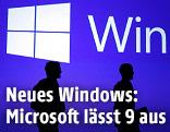 Menschliche Silhouetten vor dem Windows-Logo