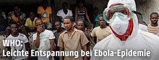 Miarbeiter des Gesundheitsdienstes in Liberia