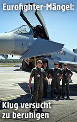 Eurofighter Typhoon und österreichische Bundesheeresoldaten