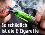 Ein Mann raucht eine E-Zigarette