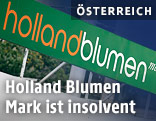 Schild einer Hollandblumen Mark Filiale