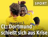 Jubel der Dortmund-Torschützen Ciro Immobile und Adrian Ramos