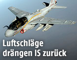 Kampfjet EA-6B Prowler der US-Navy im Einsatz über Syrien
