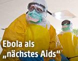 Ärzte in Schutzkleidung