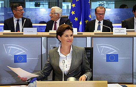 EU-Hearing der slowenischen Premierministerin Alenka Bratusek