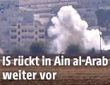 Rauchsäule über der Stadt Ain al-Arab