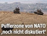 Panzer an der Grenze zwischen Türkei und Syrien