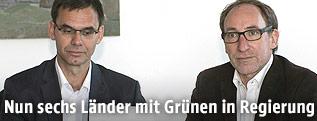 Landeshauptmann Markus Wallner (ÖVP) und Grünen-Landessprecher Johannes Rauch