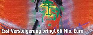 """Das Gemälde """"Indianer mit Adler"""" von Sigmar Polke"""
