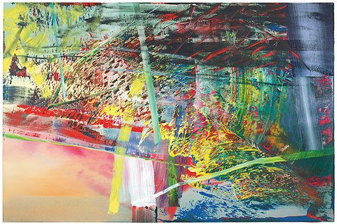 """Das Gemälde """"Netz"""" von Gerhard Richter"""