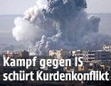 Rauch über der Stadt Kobane