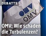 Flagge mit OMV-Logo