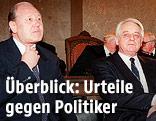 Karl Blecha und Leopold Gratz, März 1993