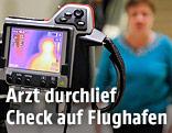 Wärmebildkamera am Flughafen