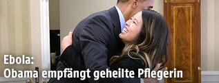 US-Präsident Barack Obama mit der Krankenschwester Nina Pham