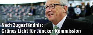 EU-Kommissionspräsident Jean-Claude Juncker lächelt