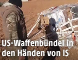 IS-Kämpfer vor Waffenlieferung