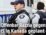 Kanadische Polizisten in Ottawa
