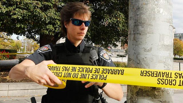 Kanadische Polizistin