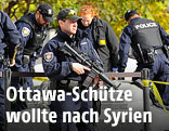Polizisten am Tatort in Ottawa