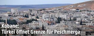 Ansicht der Stadt Kobane in Syrien