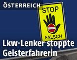 Geisterfahrer-Stop-Schild