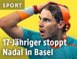 Rafael Nadal blickt entsetzt