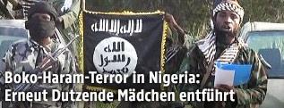 Ein Fernsehstandbild von einem Boko-Haram-Mitglied