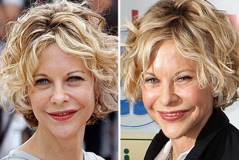 Bild der Schauspielerin Meg Ryan aus 2010 und 2013
